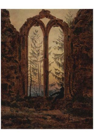 Caspar David Friedrich (The dreamer) Art Poster Print