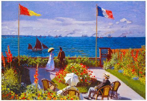 Claude Monet Garden at Sainte Adresse Fine Art Print//Poster