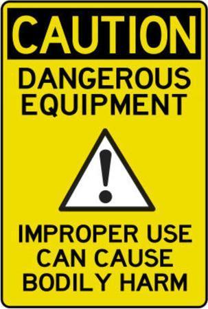 Caution Dangerous Machinery Advisory Work Place Poster