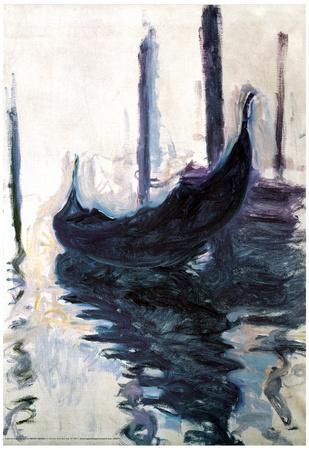 Claude Monet Gondolas in Venice Art Poster Print