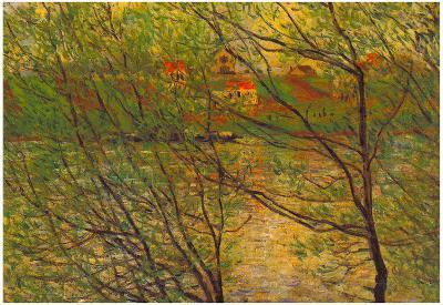 Claude Monet His Bank the Ile de la Grande Jatte Art Print Poster