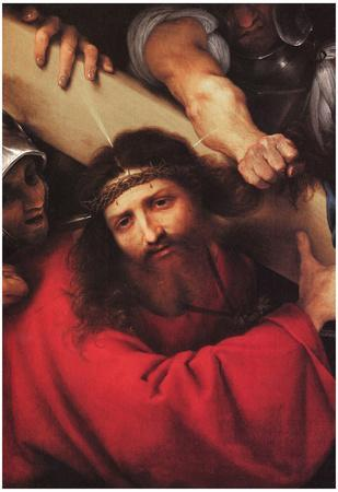 Christ Carrying the Cross by Lotto Art Print Poster