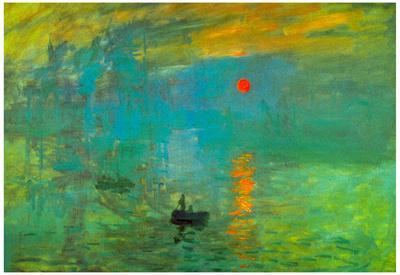 Claude Monet Impression Sunrise Art Print Poster