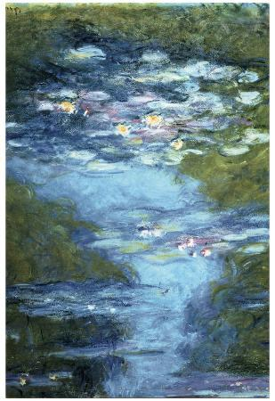 Claude Monet Water Lilies in Pond Art Print Poster