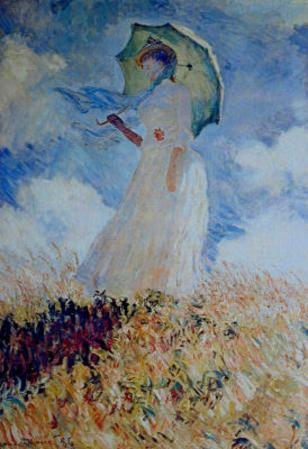 Claude Monet Lady with Umbrella Art Print Poster