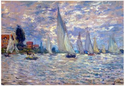 Claude Monet Les Barques Art Print Poster