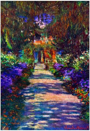 Claude Monet (Garden Path at Giverny) Art Poster Print