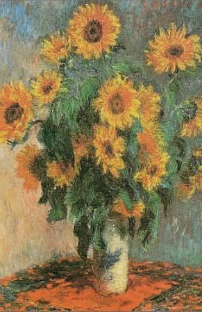 Claude Monet (Sunflowers) Art Poster Print