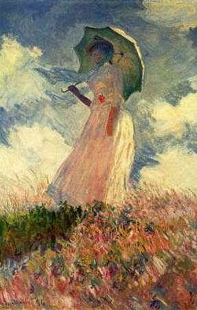 Claude Monet (Woman with Parasol, study) Art Poster Print