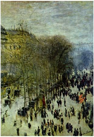 Claude Monet Boulevard of Capucines Art Print Poster