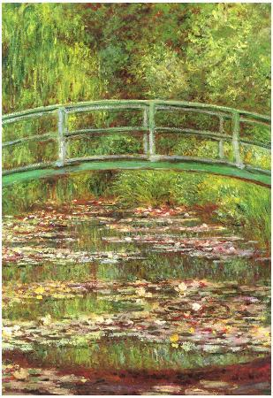 Claude Monet Bridge Over the Water Lily Pond Art Print Poster
