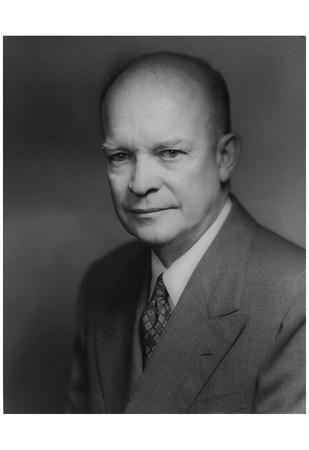 Dwight D. Eisenhower (Portrait) Art Poster Print