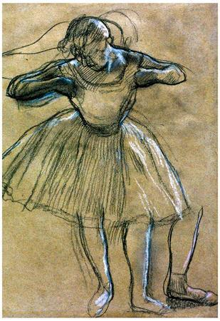 Edgar Degas Dancer Sketch Art Print Poster