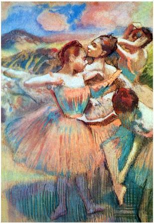 Edgar Degas Dancers in the Landscape Art Print Poster