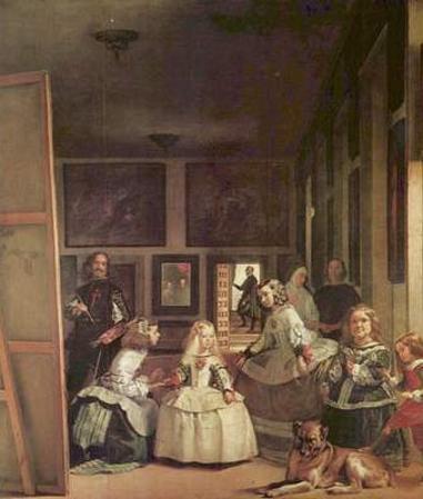 Diego Velazquez (Las Meninas (Self Portrait with the royal family)) Art Poster Print