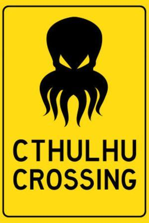 Cthulhu Crossing Creature Print Poster