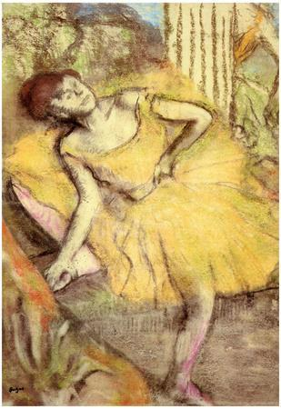 Edgar Degas Sitting Dancer with the Right Leg Up Art Print Poster