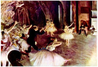 Edgar Degas Stage Probe Art Print Poster