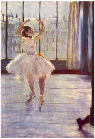 Edgar Degas The Dancer at the Photographer Art Print Poster
