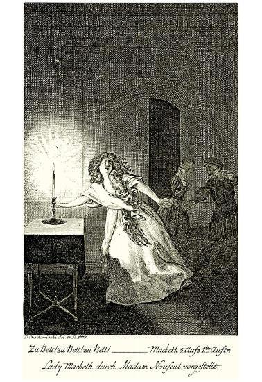 Daniel Nicholas Chodowiecki (Lady Macbeth) Art Poster Print