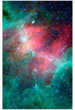 Cosmic Epic Unfolds Eagle Nebula  in Infrared Space Photo Art Poster Print