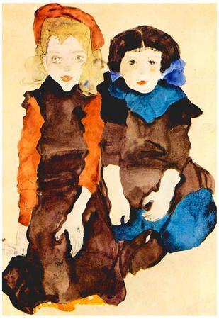 Egon Schiele Girls Art Print Poster