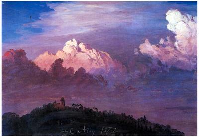 Frederick Edwin Church Olana in the Clouds Art Print Poster