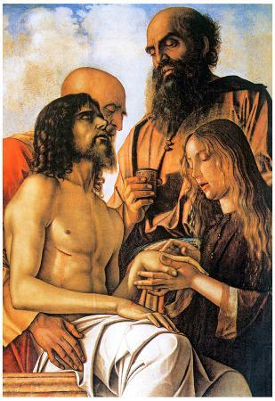 Giovanni Bellini Mourning of Christ with Joseph, Nicodemus and Mary Magdalene Art Print Poster