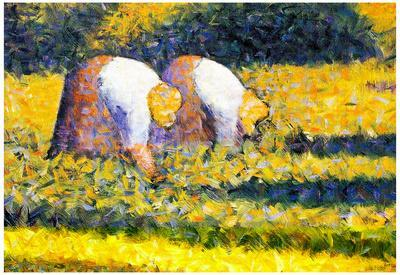 Georges Seurat Farmers at Work Art Print Poster