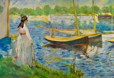 Edouard Manet His Embankment at Argenteuil Art Print Poster