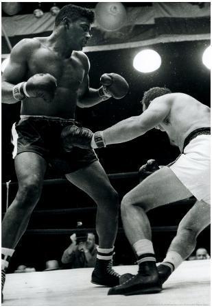 Floyd Patterson Knockout Archival Sports Photo Poster