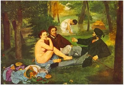 Edouard Manet Morning Break Art Print Poster