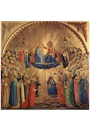 Fra Angelico (Marie coronation) Art Poster Print