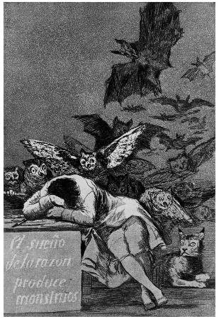 "Francisco de Goya y Lucientes (Follow the ""Caprichos,"" Sheet 43: The dream of reason Poster"