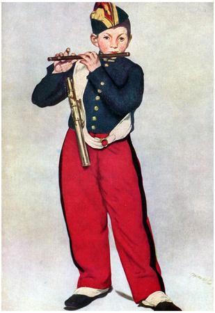 Edouard Manet The Piper Art Print Poster