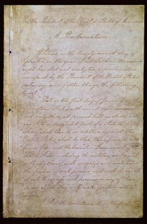 Emancipation Proclamation (Text) Art Poster Print
