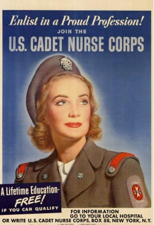 Enlist in a Proud Profession Join the US Cadet Nurse Corps WWII War Propaganda Art Print Poster