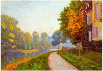 Gustave Caillebotte Riverbank Art Print Poster