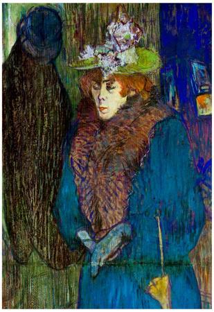 Henri de Toulouse-Lautrec Jane Avril Entering in the Moulin Rouge Art Print Poster