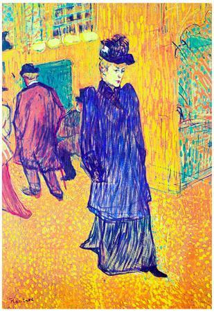 Henri de Toulouse-Lautrec Jane Avril Leaves the Moulin Rouge Art Print Poster