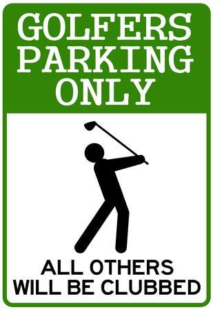 Golfers Parking Only Sign Sports Poster