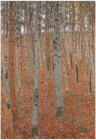 Gustav Klimt Forest of Beech Trees Art Print Poster