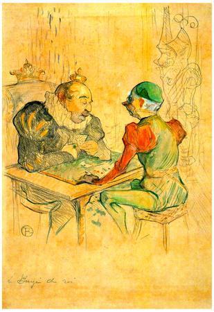 Henri de Toulouse-Lautrec Le Bezigue Art Print Poster