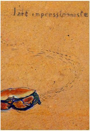 Henri de Toulouse-Lautrec Crab on the sand Art Print Poster