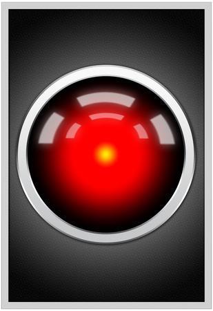 Hal 9000 Camera Eye Screen Movie Poster