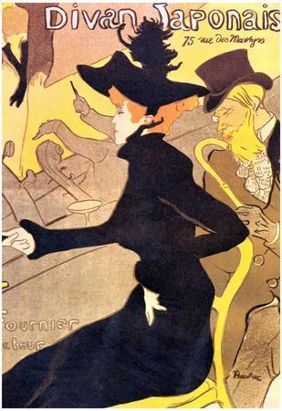 Henri de Toulouse-Lautrec Divan Japonais Art Print Poster