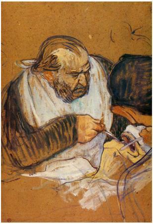 Henri de Toulouse-Lautrec Doctor Pean Operates Art Print Poster