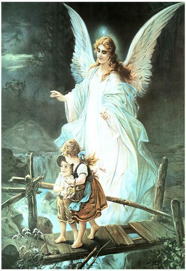 Guardian Angel On Bridge Art Print Poster Poster At Allposterscom
