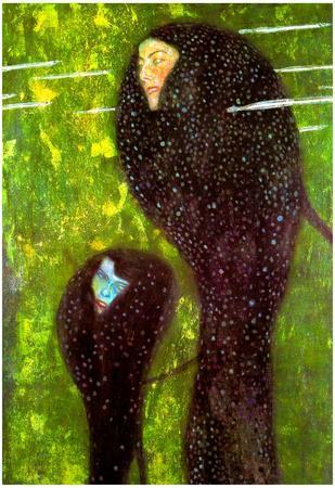 Gustav Klimt Mermaids Art Print Poster