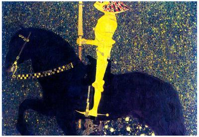 Gustav Klimt The Life of a Struggle (The Golden Knights) Art Print Poster